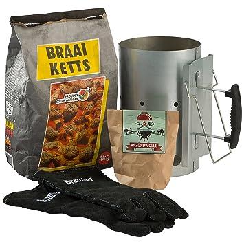 Ultranatura Braai Ketts Carbón Vegetal para restaurantes especializados en Carne, 4 kg, Negro: Amazon.es: Jardín