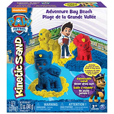 Kinetic Sand, Paw Patrol Adventure Bay Beach Playset: Toys & Games