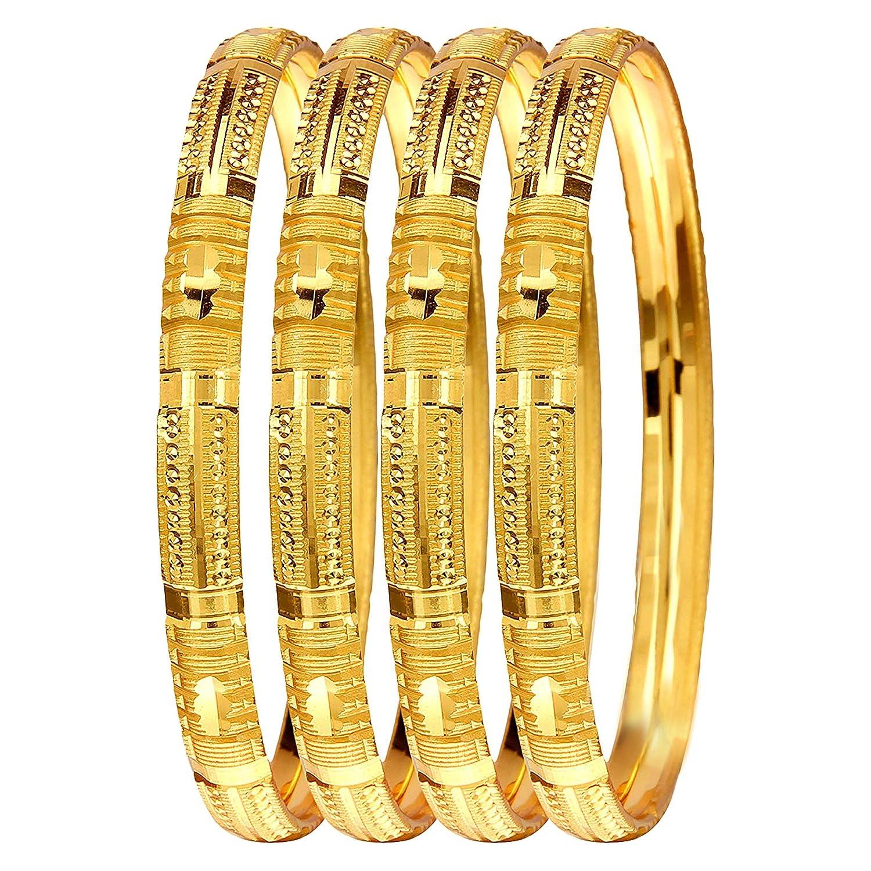 7ec3bd9bea1 Mansiyaorange Four Traditional Fancy Designer Casual Party Hand Work Meena  One Gram Gold Bangles for Women