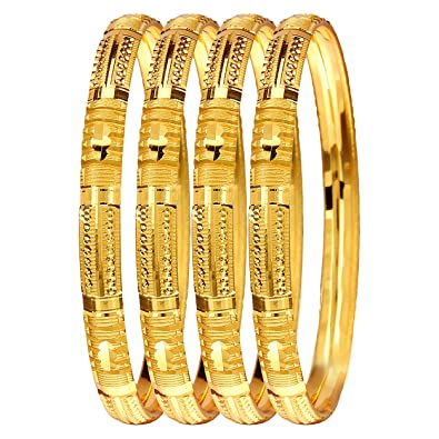 d12b9026f1816 Mansiyaorange Four Traditional Fancy Designer Casual Party Hand Work Meena  One Gram Gold Bangles for Women