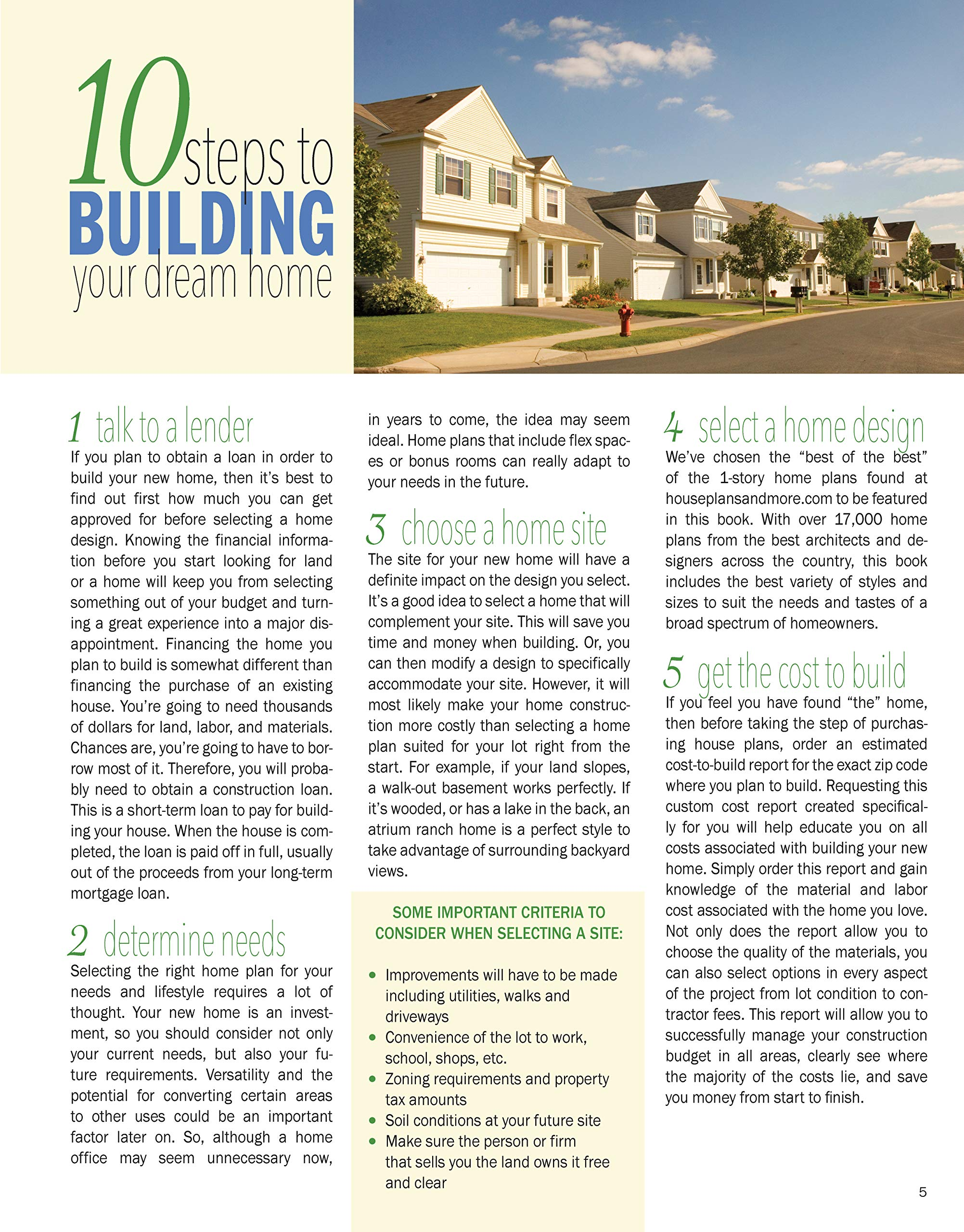 Best-Selling 1-Story Home Plans, Updated 4th Edition: Over 360 Dream