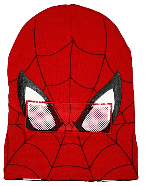 8921817e441 Amazon.com  Marvel Spider-Man Roll Down Mask Winter Beanie Hat  Clothing