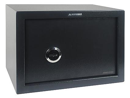 Arregui T25K Caja fuerte de sobreponer sólo llave.350x250x250 mm Gris oscuro 350 x 250
