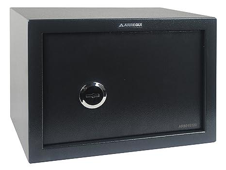 Arregui T25K Caja Fuerte de sobreponer sólo Llave.350x250x250 mm, Gris Oscuro, 350