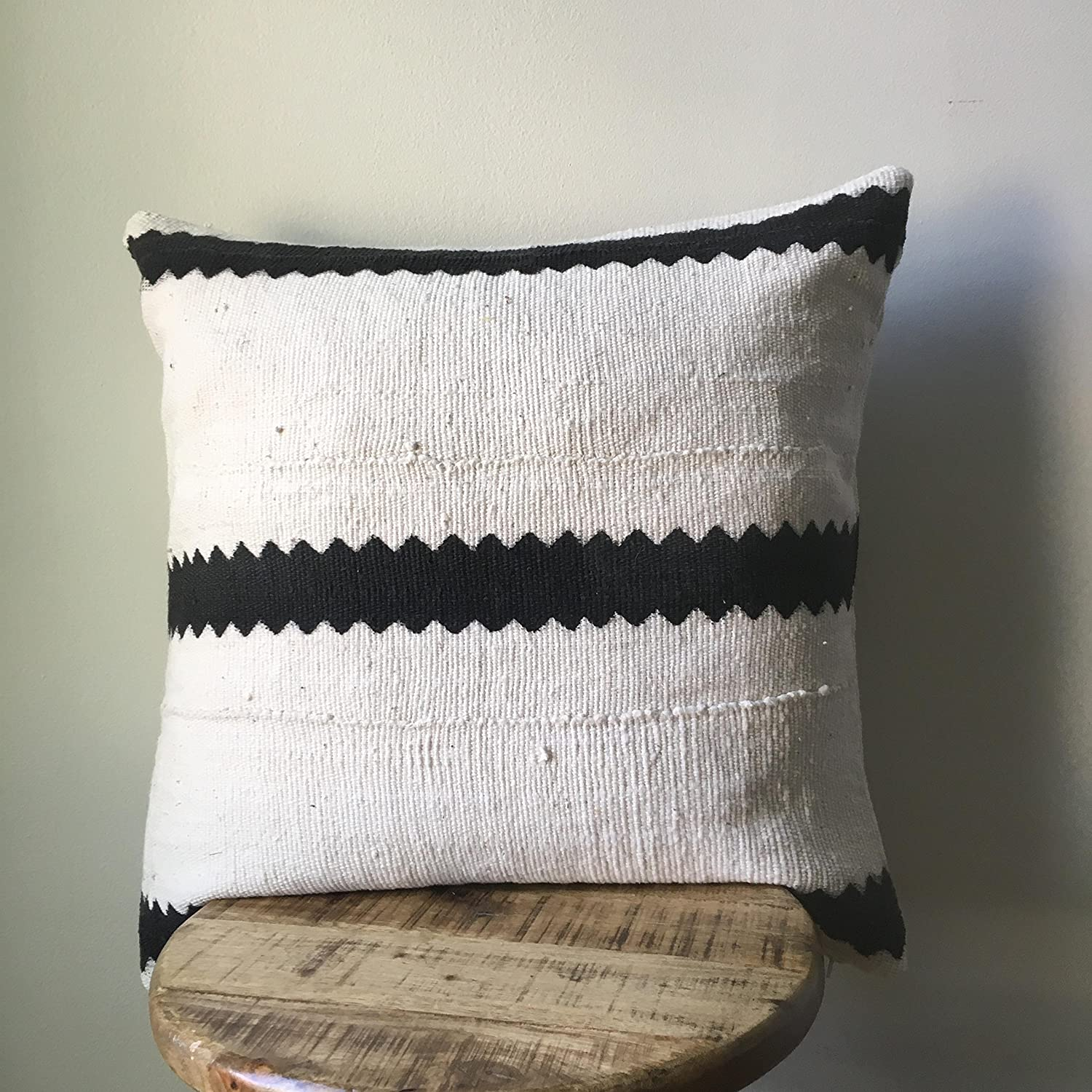 Striped Pattern Mudcloth Pillow - Handmade -More Sizes Available
