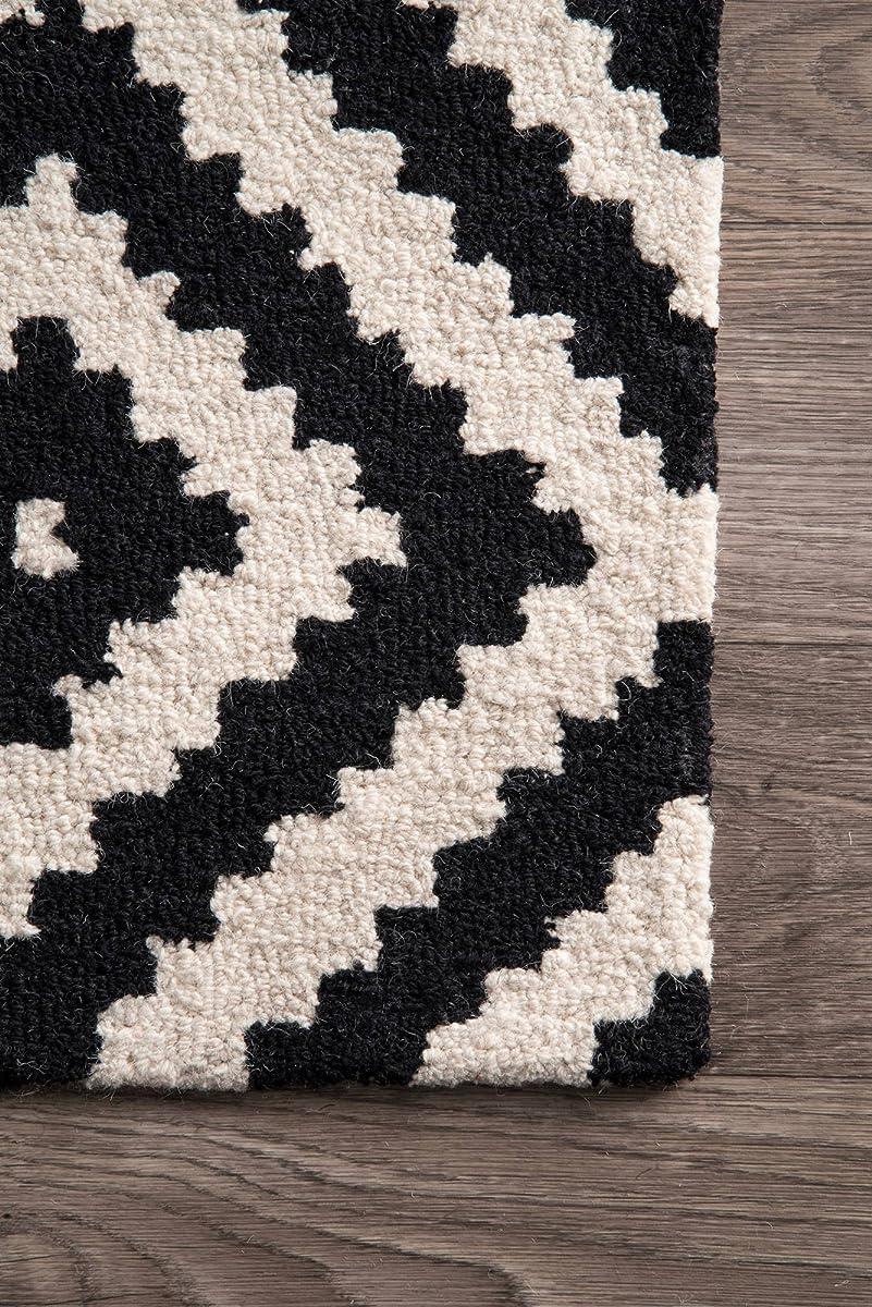 nuLOOM MTVS174A Black Hand Tufted Kellee Area Rug, 5 x 8, Black