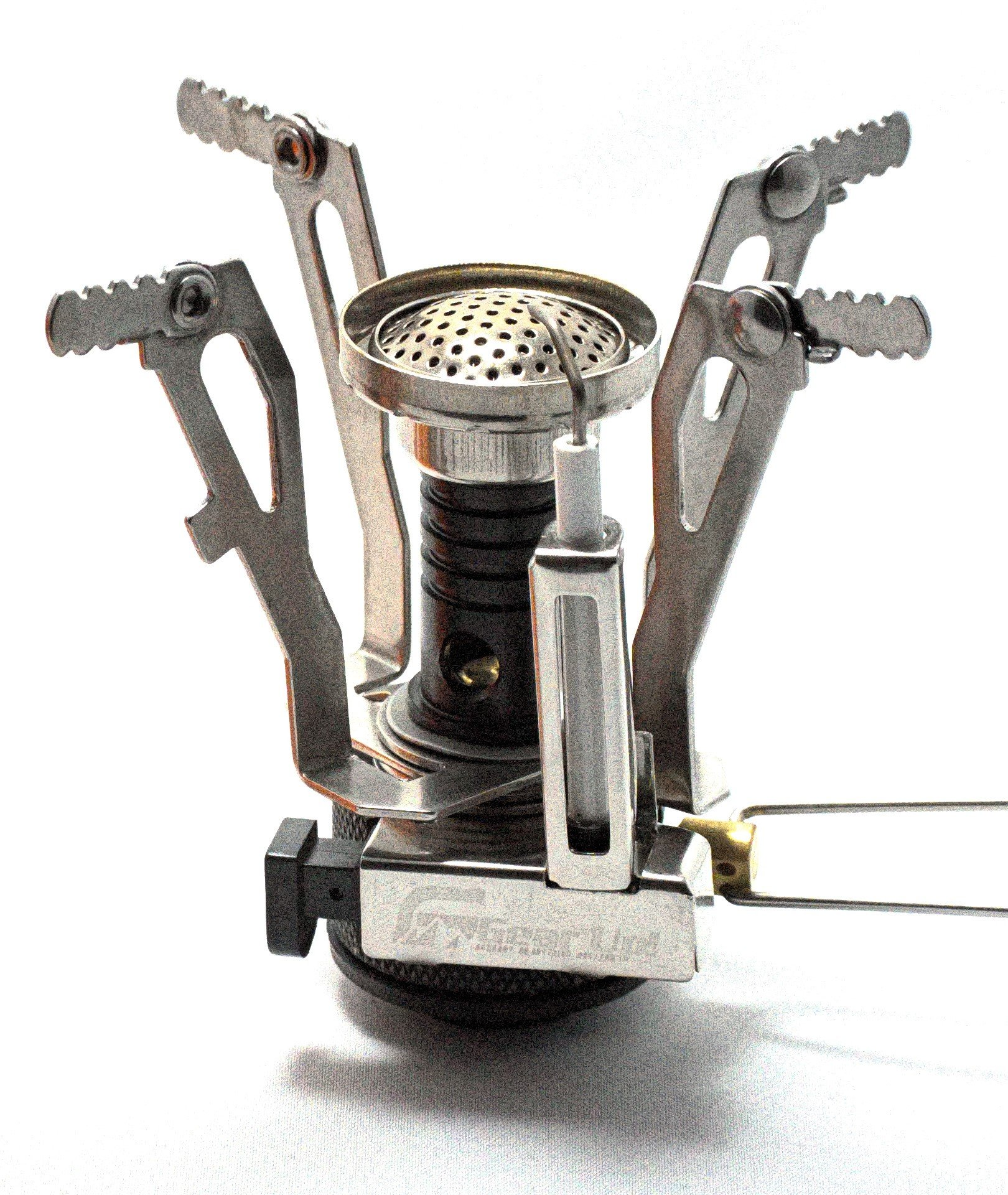 Gear Up! Mini Camp Stove, Portable Cooker For Camping, Hiking, Backpacking & Outdoor Activities. Bonus Gear Up Credit Card Knife In Box.
