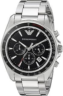 Emporio Armani Mens AR6098 Sport Silver Quartz Watch