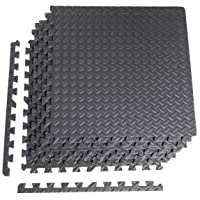 Deals on CAP Barbell 6-Piece Puzzle Exercise Mat, Black, 1/2-inch Thick