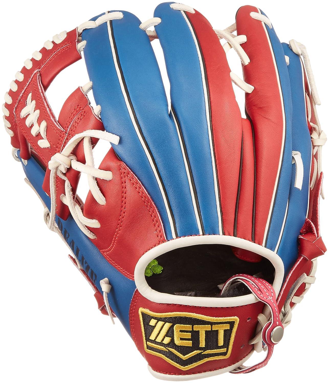 ZETT(ゼット) ソフトボール オールラウンド グラブ(グローブ) リアライズ (左投げ用) BSGB52710 レッド/ブルー B01MCYZKG9