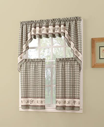 Amazon Com No 918 Berkshire Kitchen Curtain Valance 56 X 14
