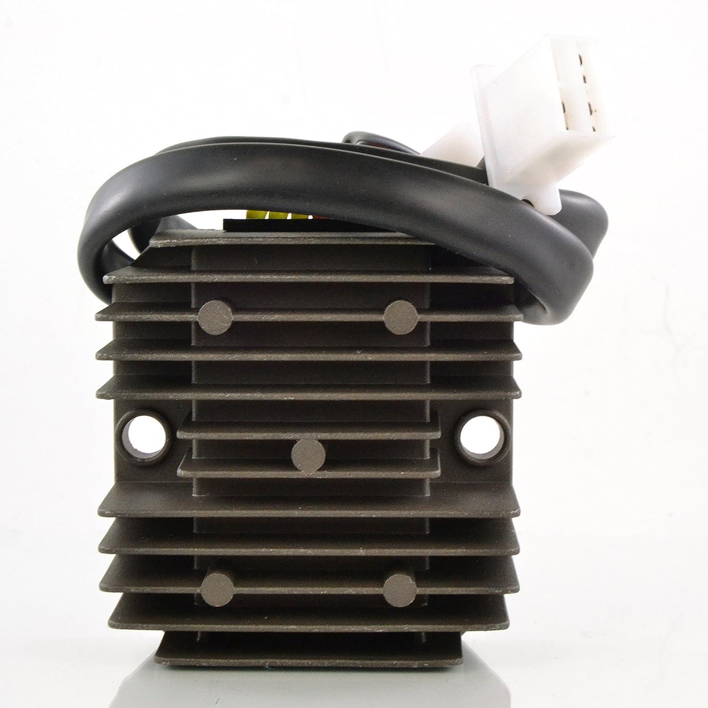 Voltage Regulator Rectifier For Honda CH 150 Elite/CH 250 Elite/CN 250 Helix 1985-2001 CH150 CH250 CN250 OEM Repl.# 31600-KS4-841 31600-KM1-008 31600-KS4-770 31600-SZ1-900 31600-MK1-008 RMSTATOR