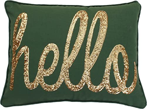 One Bella Casa 12166PL16 Somebody Pooped Pillow by Ursula Dodge, 16 x 16 , Green