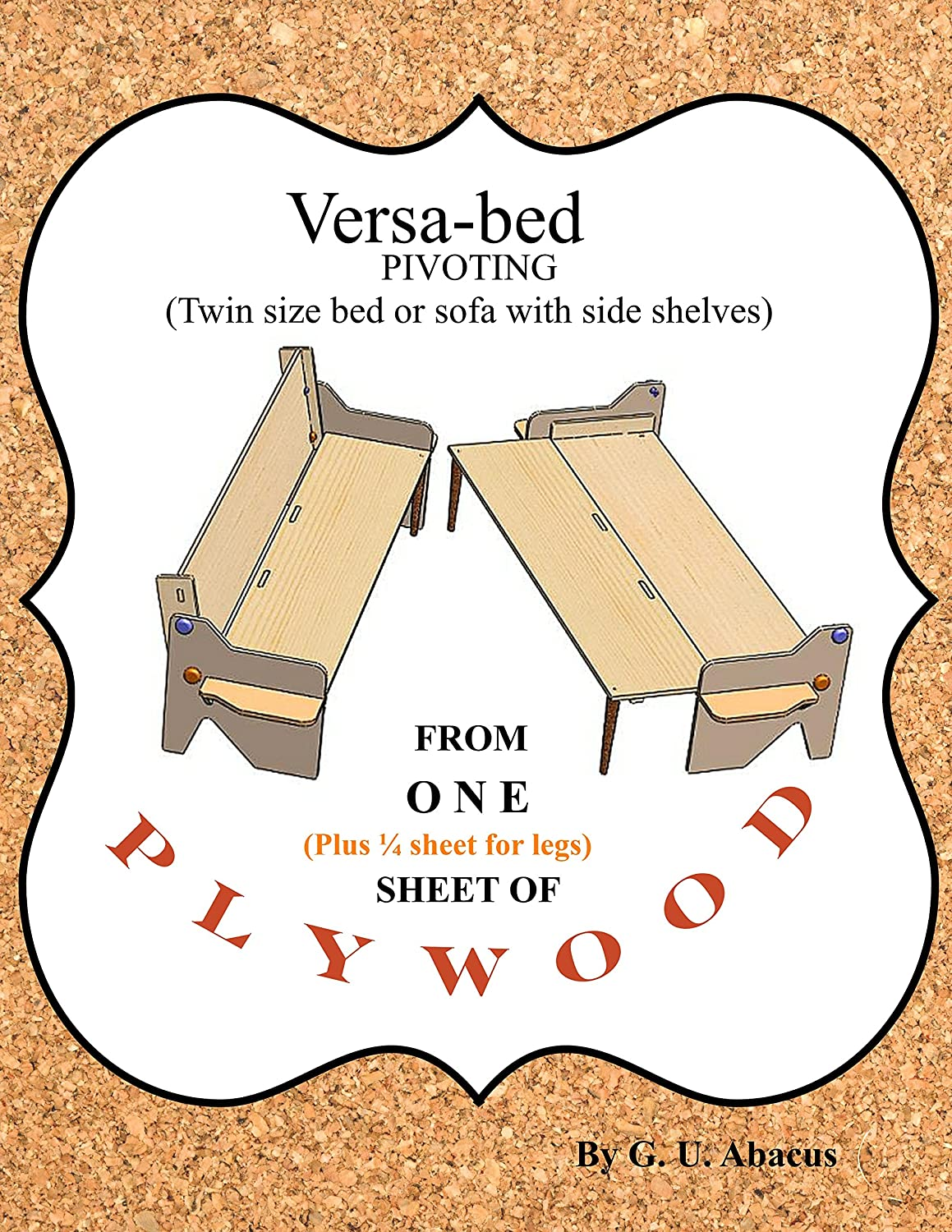 Versa-bed pivoting: Twin size bed or sofa with side shelves ...