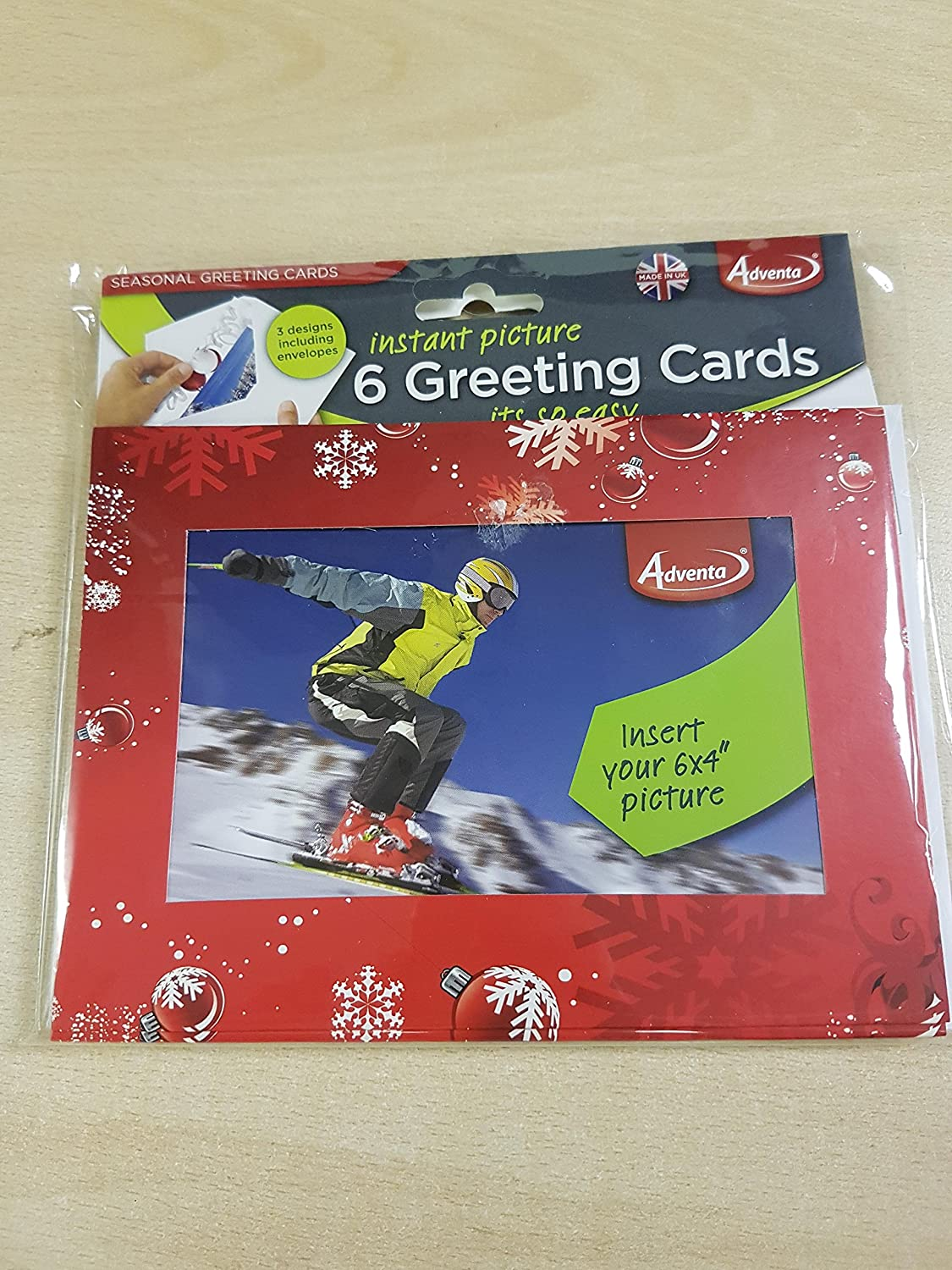 6x Greetings Cards Insert Your Own 6x4 Photo Amazon Office