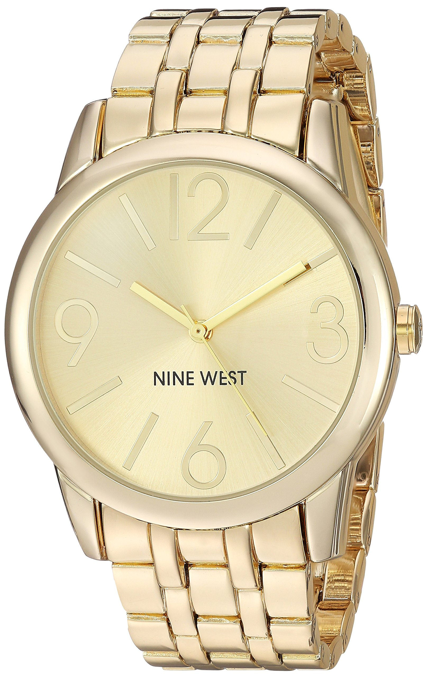 Nine West Women's NW/1578CHGB Champagne Dial Gold-Tone Bracelet Watch by Nine West