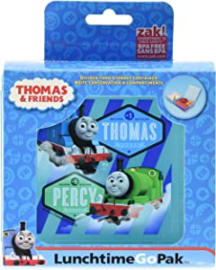 Zak! Designs GoPak Lunch Box Divided Food Storage Container featuring Thomas & Friends, Break-resistant and BPA-free Plastic