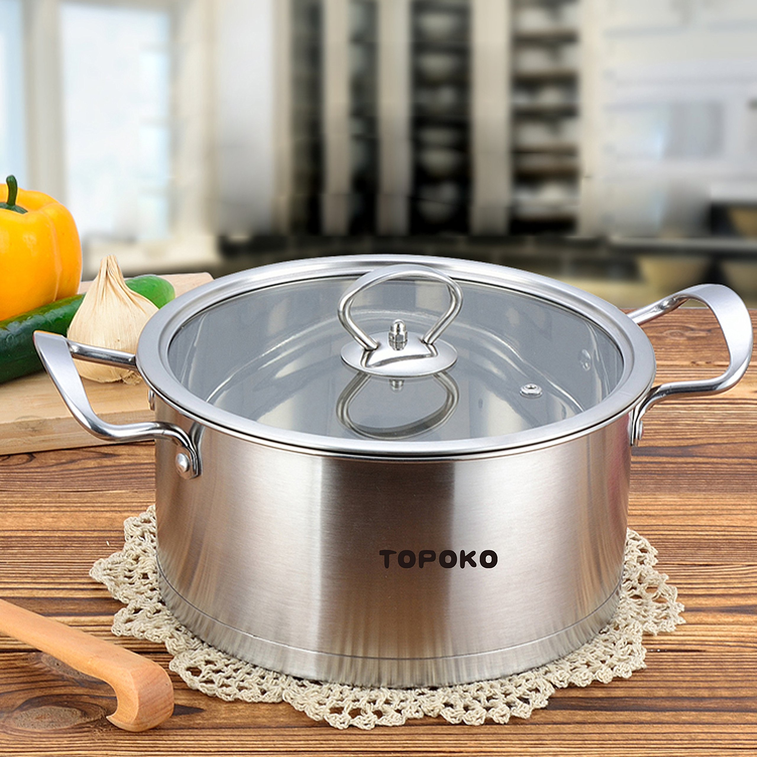 Stainless steel 3 qt sauce pot with lid for Perfect kitchen cookware