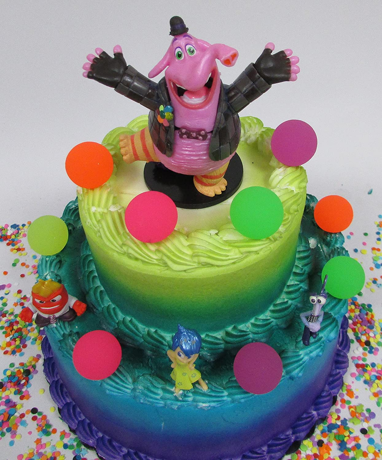 Amazon.com: Inside Out BING BONG Birthday Cake Topper Set Featuring ...