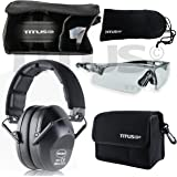 TITUS Top Combos: Safety Earmuffs & Glasses (Black - Slim, G20 Clear w/ All-Sport Frame)