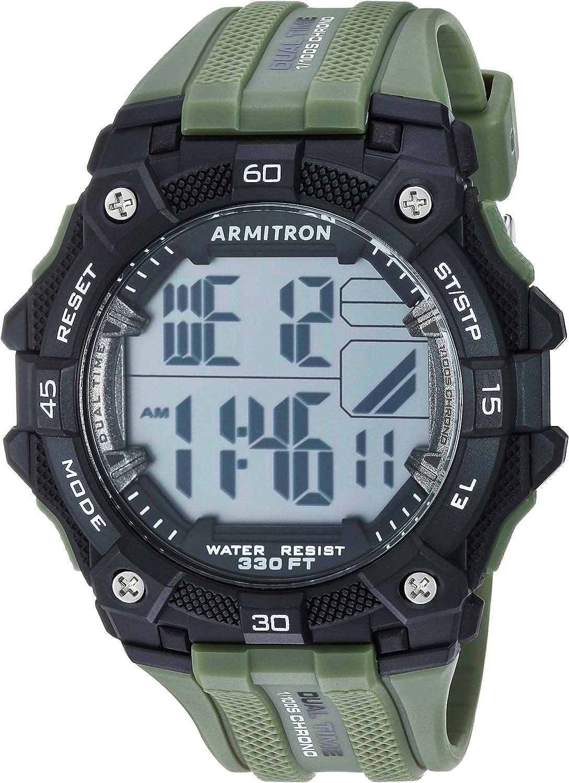 Reloj digital Armitron Sport 40/8403 con cronógrafo y correa de resina para hombre