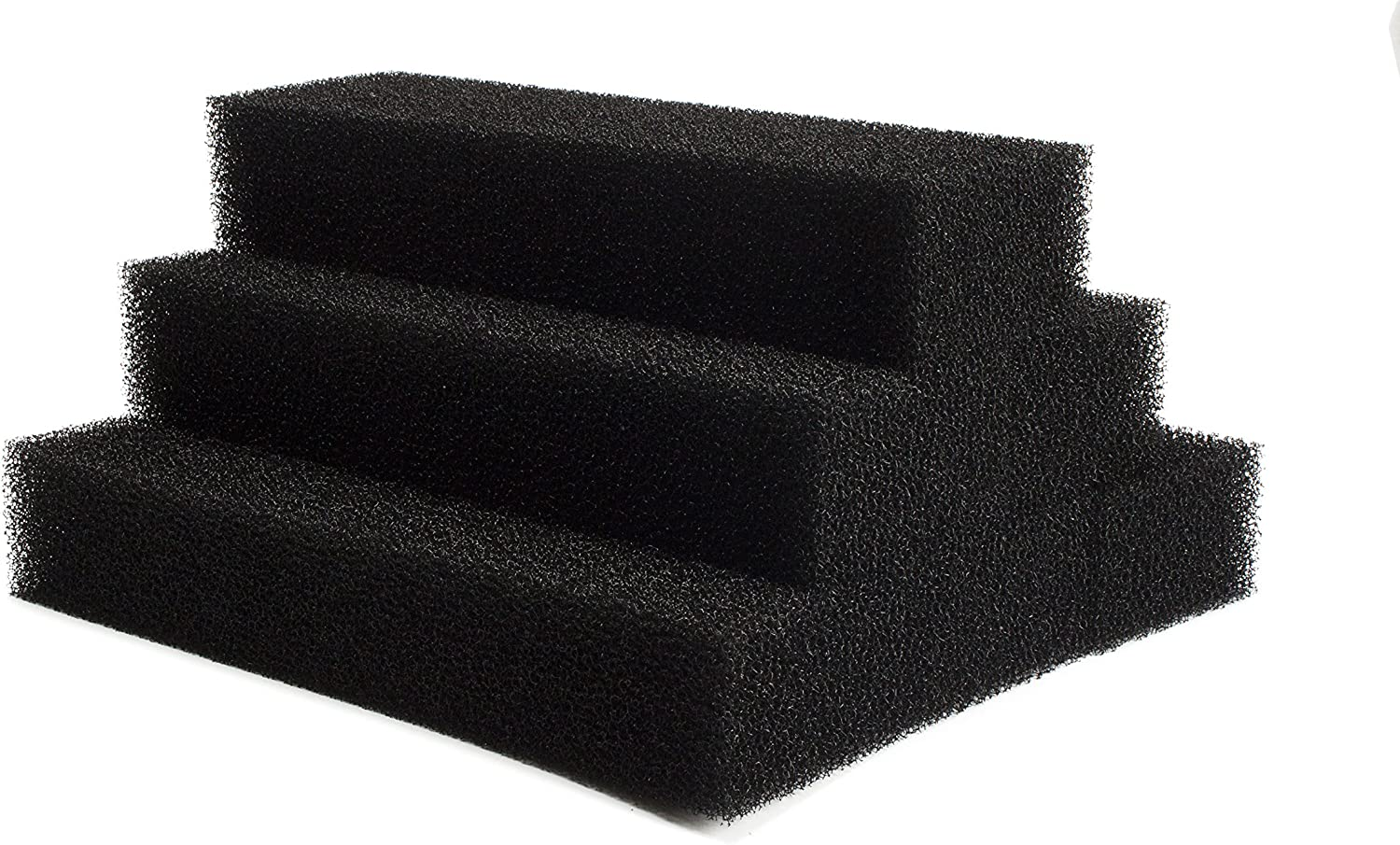 LTWHOME Large Square Foam Filter Compatible with Zoo Med's 501 External Filter (Pack of 6)