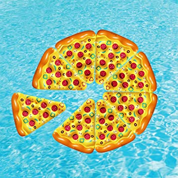 Amazon.com: Porción de Pizza piscina flotador inflable ...