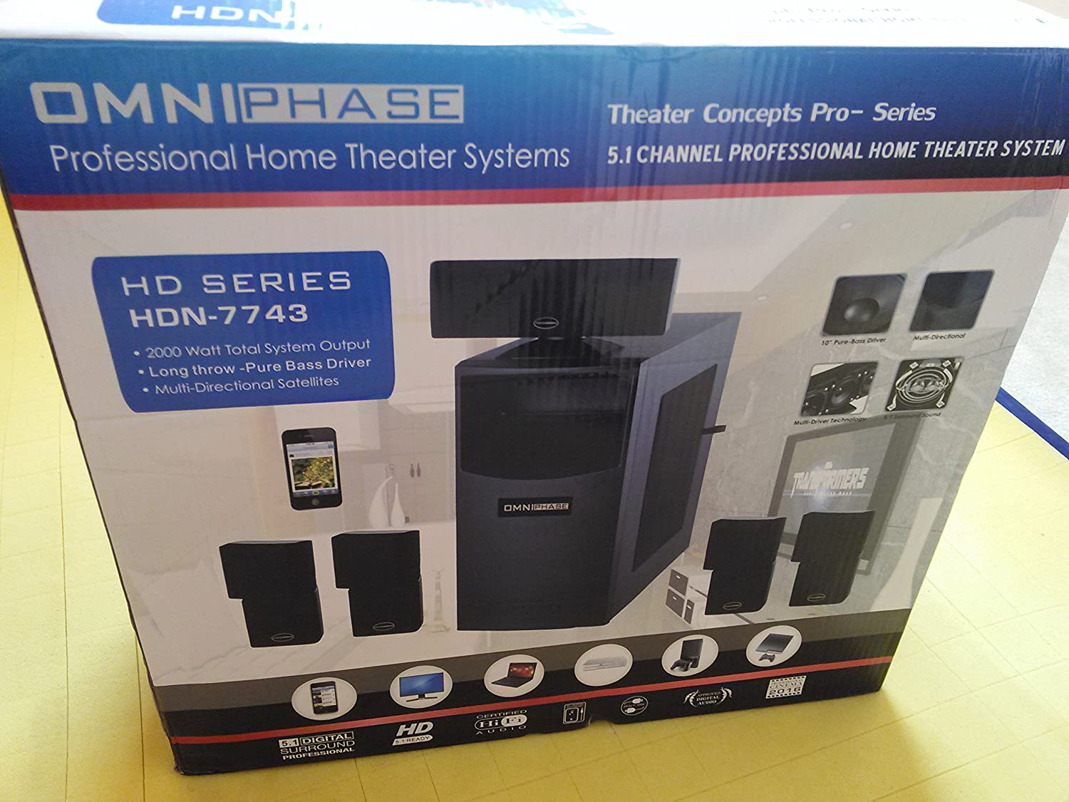 amazon com omniphase professional home theater system electronics