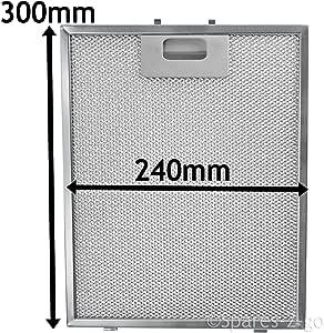 Spares2go Malla Metálica Filtro para Indesit Campana extractora/extractor ventilación (plata, 300 x 240 mm): Amazon.es: Hogar