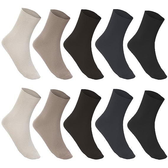 weiß 35-38 6 Paar Damen Socken ohne Gummibund Baumwolle Diabetiker ohne Naht