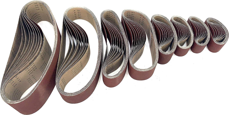 5 bandes abrasives 1220x150mm grain 60
