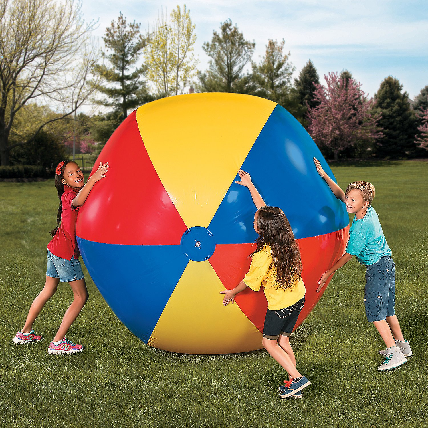 Giant Jumbo Vinyl Inflatable Beach Ball - VBS Pool Fun 6 Foot Diameter by Fun Express (Image #1)