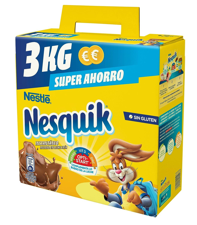 Nestlé Nesquik Cacao Soluble Instantáneo - Estuche 4 x 3 kg: Amazon.es: Alimentación y bebidas