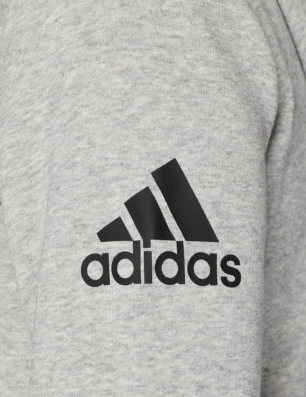 adidas Damen Jacke Essentials Solid Kapuzenpullover Medium Grey Heather