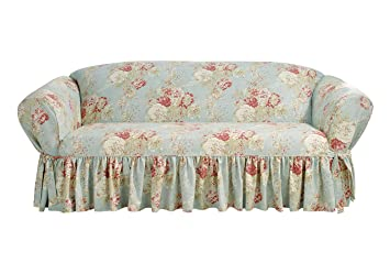 amazon com ballad bouquet by waverly one piece sofa slipcover rh amazon com Waverly Couch Covers Waverly Floral Slipcovers