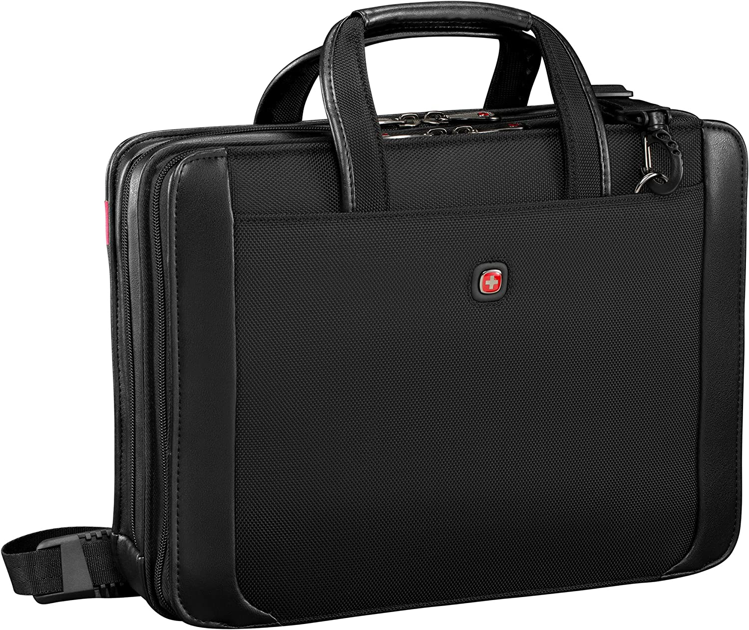 Wenger Luggage Proxy Zippered Laptop Presentation Padfolio, Black, 14-inch