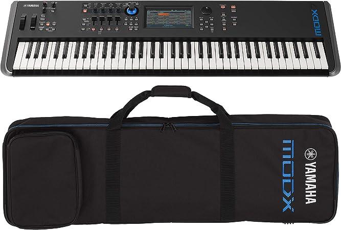 Yamaha MODX7 - Sintetizador de teclado de acción semiponderada con funda suave Yamaha MODX7