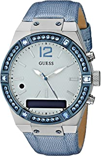 7ceb1e00c GUESS - Reloj inteligente de acero inoxidable para mujer, compatible con  Amazon Alexa, iOS