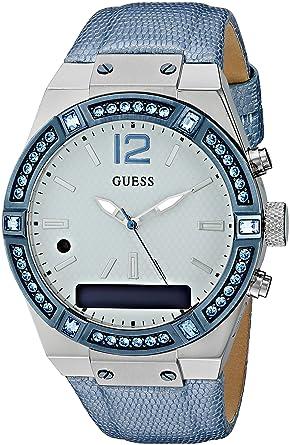 Mit Analog Damen Uhr Guess Quarz Armband Digital Leder C0002m5 8nwP0Ok