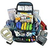 Lightning X Premium Stocked Modular EMS/EMT Trauma First Aid Responder Medical Bag + Kit - Navy Blue