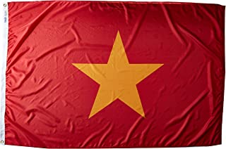 product image for Annin Flagmakers Model 199237 Vietnam Flag Nylon SolarGuard NYL-Glo, 4x6 ft, 100% Made in USA to Official United Nations Design Specifications