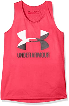 Under Armour UA Big Logo Slash Tank Camiseta sin Mangas, Niñas, Rosa (975