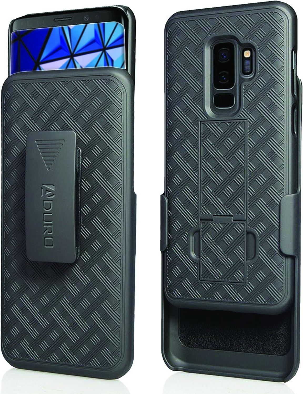 Aduro Funda para Samsung Galaxy S9 Plus funci/ón Atril, Enganche para cintur/ón, funci/ón Atril