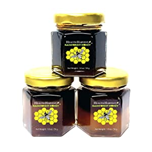 Tualang Honey 1.8oz x 3 Jars (Economy Tasting Pack: Black, Red & Yellow) | Total Activity 6+ to 10+ | Pollen 100+ | From Tropical Rainforest Heritage of Sumatra | Multiple Awards-Winning
