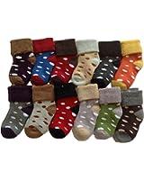 Lian LifeStyle Children Dotted Socks, Random Color