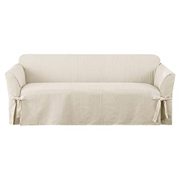Amazoncom Sure Fit Ticking Stripe 1Piece Sofa Slipcover