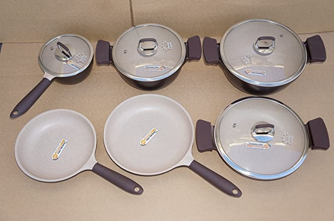Third Generation Healthy Legend 10 pcs Set Non-stick German Weilburger Ceramic Coating Cookware Set - Eco Friendly, Non-toxic by Healthy Legend: Amazon.es: ...