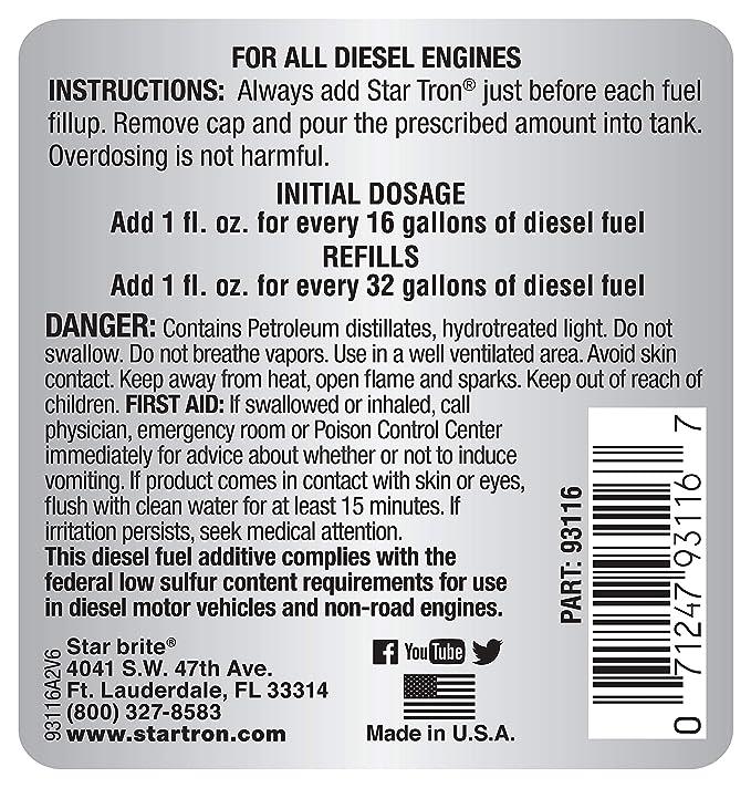Amazon.com: Star Tron enzima Tratamiento de Combustible ...