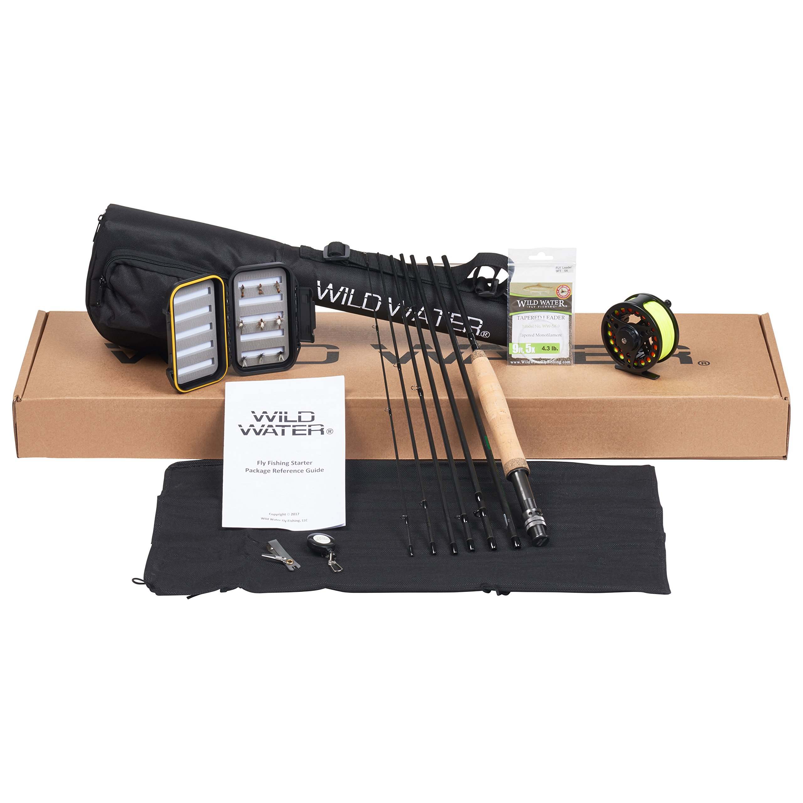 Wild Water Fly Fishing Rod and Reel Combo 7 Piece Fly Rod 5wt 9' Complete Starter Package by Wild Water