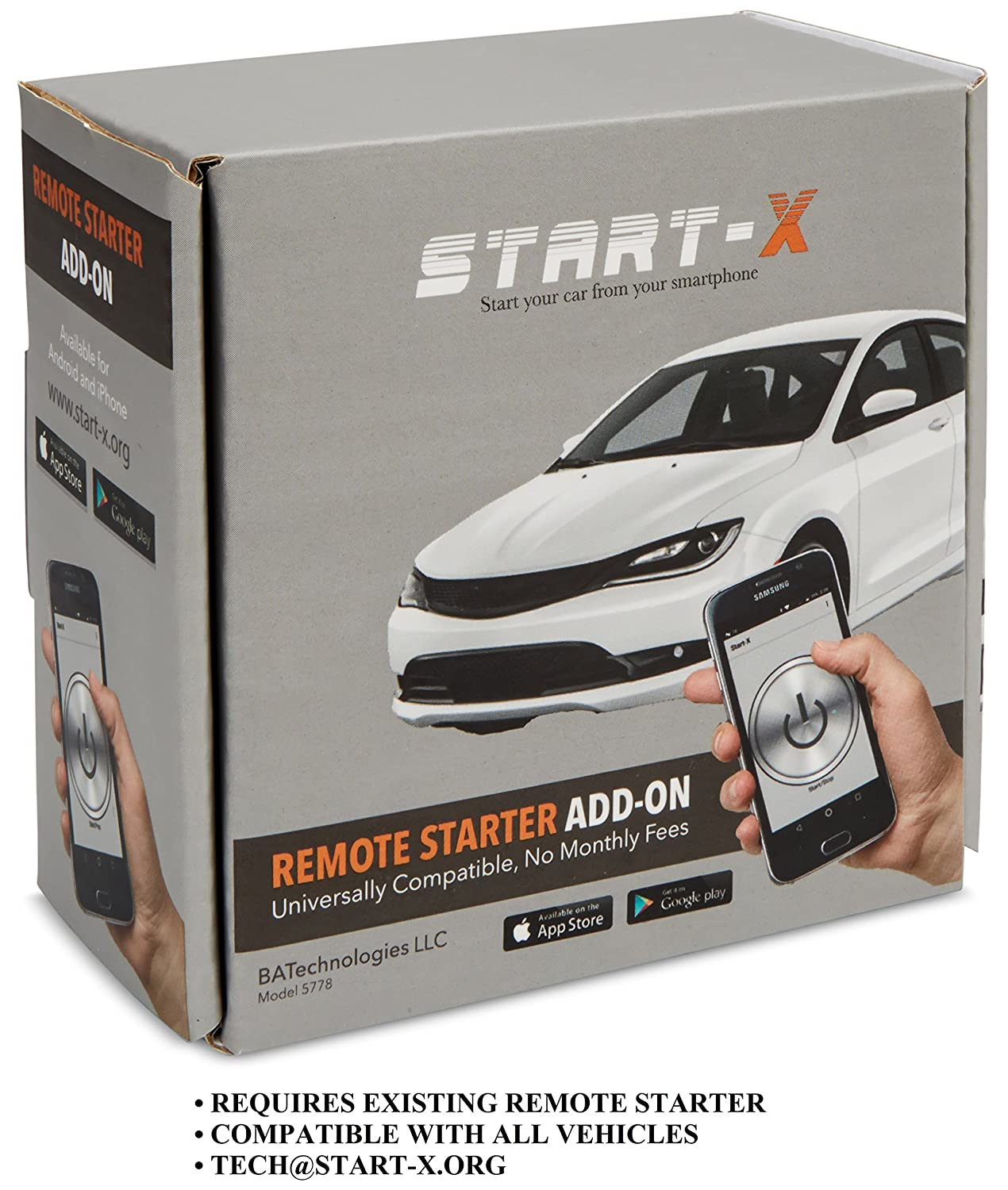 START-X REMOTE STARTER SMART PHONE ADD-ON NO MONTHLY FEES
